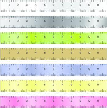 Measurement rulers vector