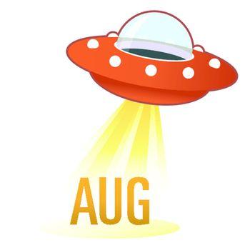 August UFO button