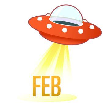 February UFO button