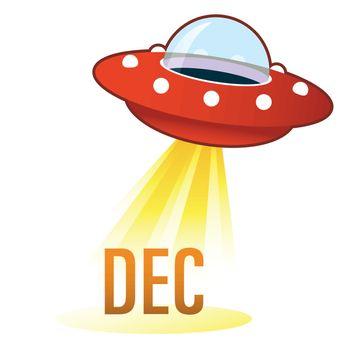 December UFO button
