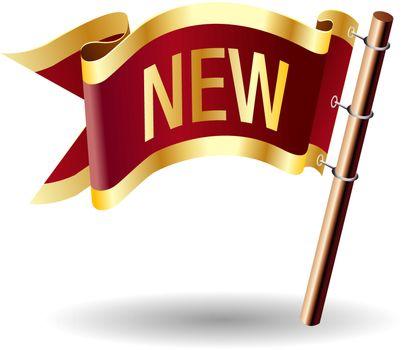 New royal flag button