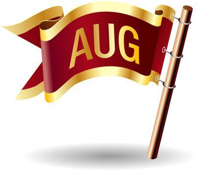 August royal flag button