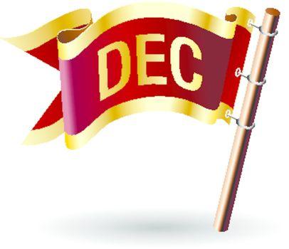 December royal flag button