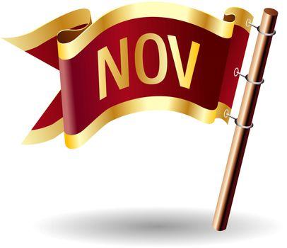 November royal flag button