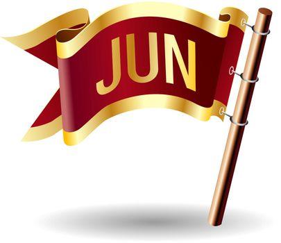 June royal flag button