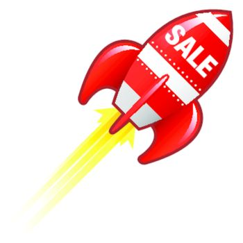 Sale e-commerce retro rocket