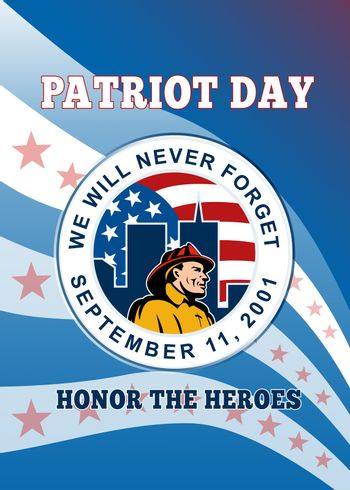 American Patriot Day Remember 911  Poster Greeting Card