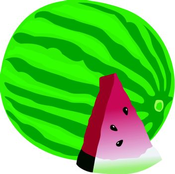 watermelon with sliced