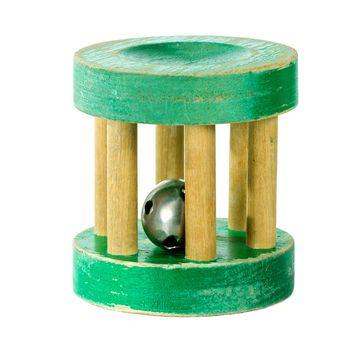Antique wooden rattle
