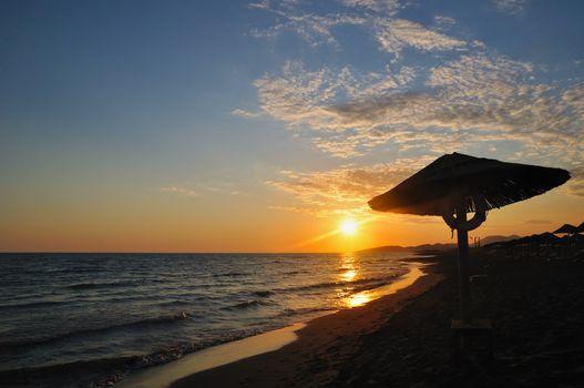 Sunset on beach