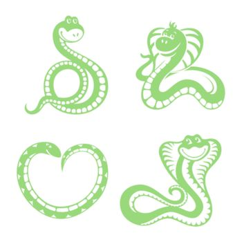 set of funny snakes