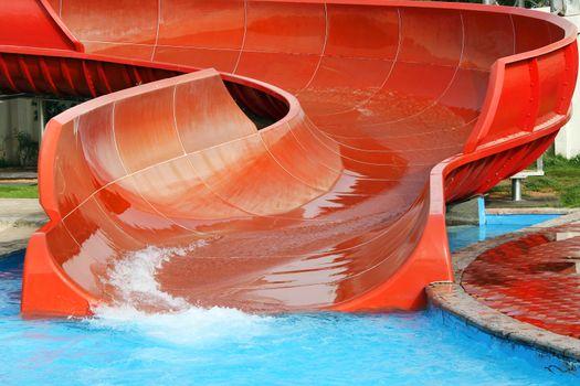 Aquapark slide