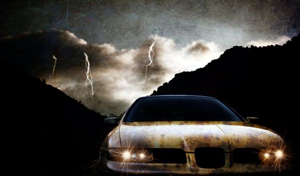 Grungy car