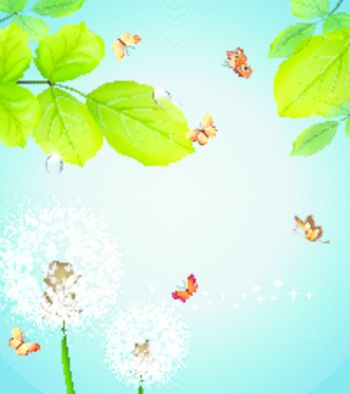 Romantic vector background with flower
