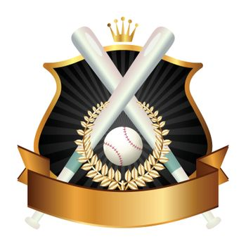 Emblem of sport champion Baseball