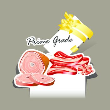 Paper cut Meat and Sausages set prime grade