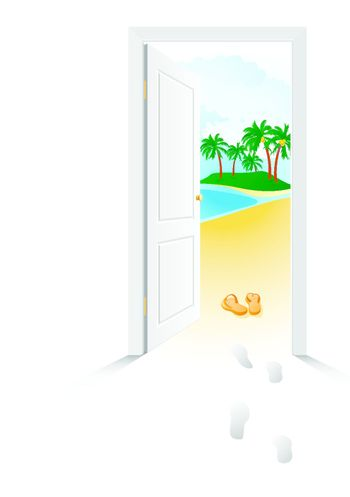 Near the sea, just open the door