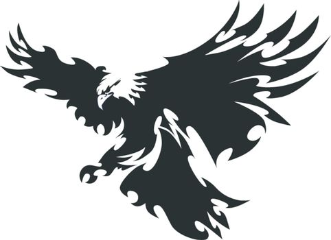 Eagle Mascot Flying Wings Design