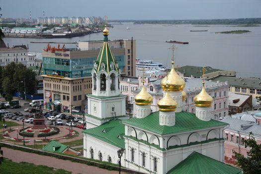 Nizhny Novgorod view with John the Baptist church