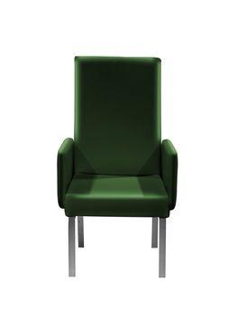 Green easy armchair