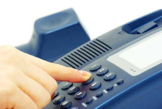 finger with telephone keypad