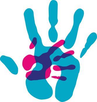 Multicolor diversity hands transparency