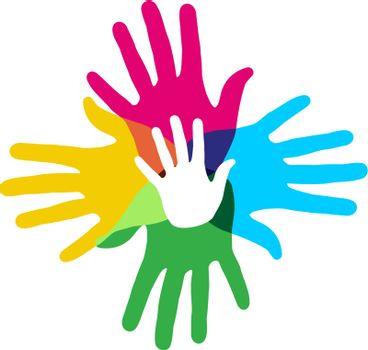 Multicolor diversity hands