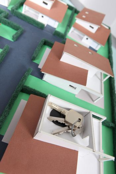 Keys on a model housing estate