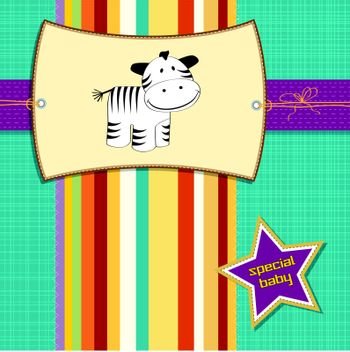 new arrived card with zebra