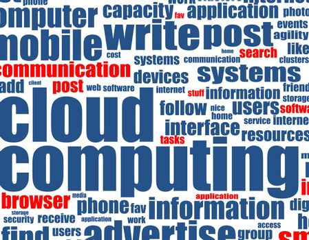 cloud computing - word background