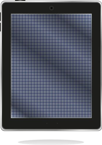 black tablet pc with abstract blue screen