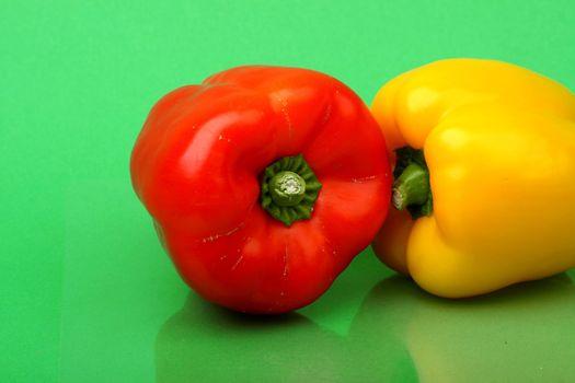paprika on green