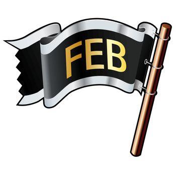 February pirate flag