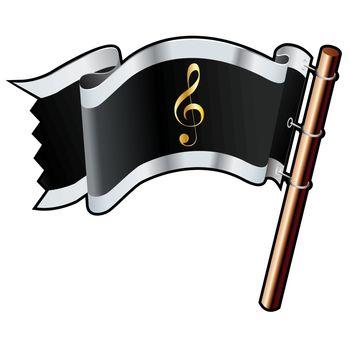 Treble clef pirate flag