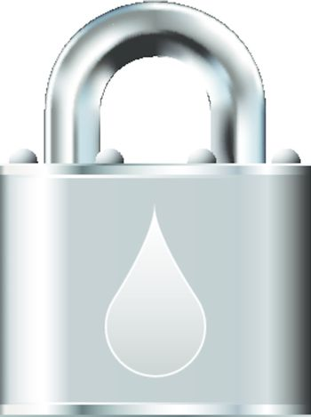 Secure water or oil icon