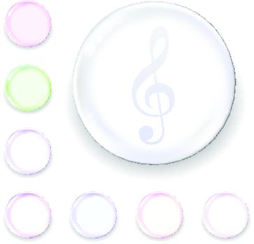 Treble clef glass orb icon