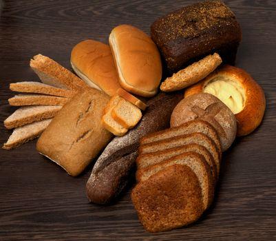 Arrangement of Various Bread