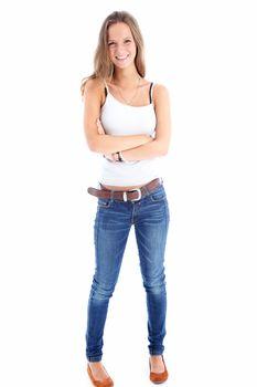 Portrait of a slender teenager