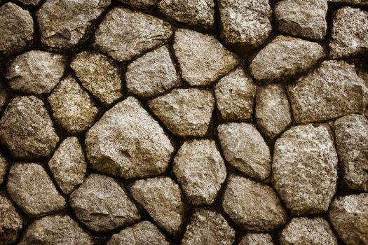 Rough stone masonry background
