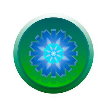flake button