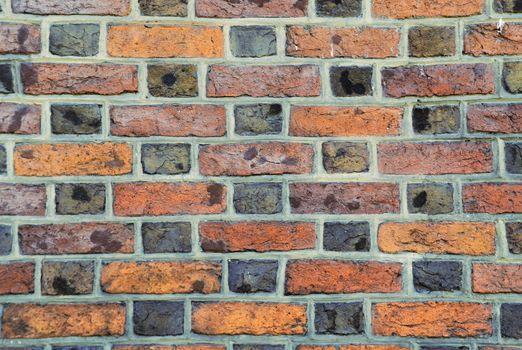 parti-colored brick wall