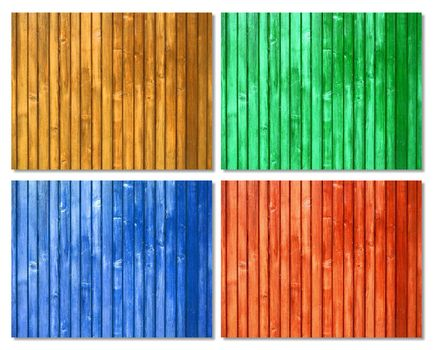 Picket colored wood surfaces