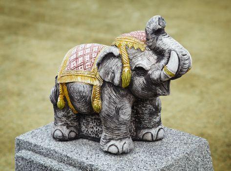 Concrete sculpture - old Indian elephant