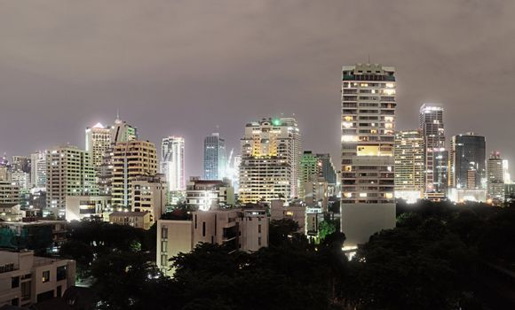 Architecture in Bangkok - buildings in the city center
