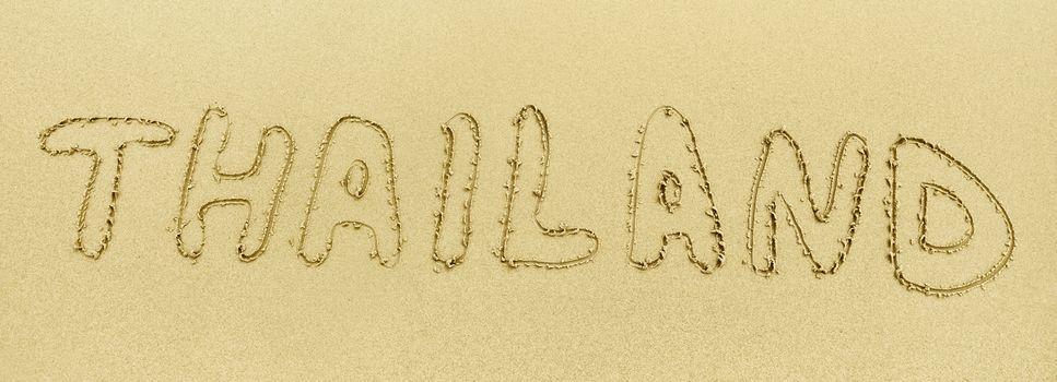 Inscription on the sand - Thailand