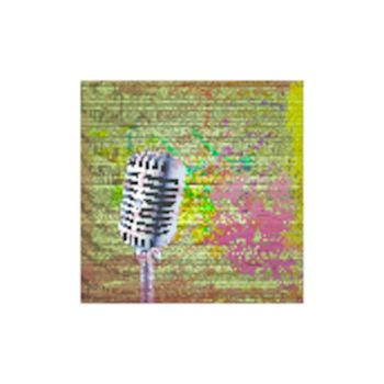 Grunge background with microphone