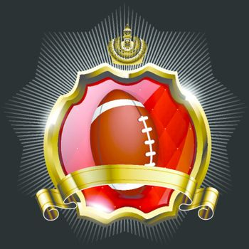 Emblem of sport champion rugby football