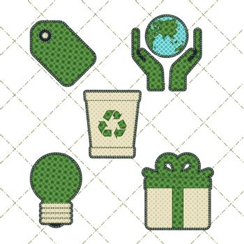 Collection patchwork concept of Eco icons set