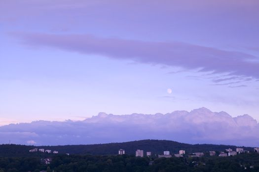 moon in dusk