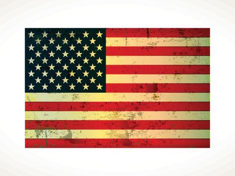 old vintage American flag grunge on paper